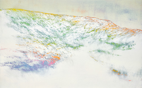 游雅蘭   Rainbow Mountain  2018  版畫/油印木刻凸版   50x80cm