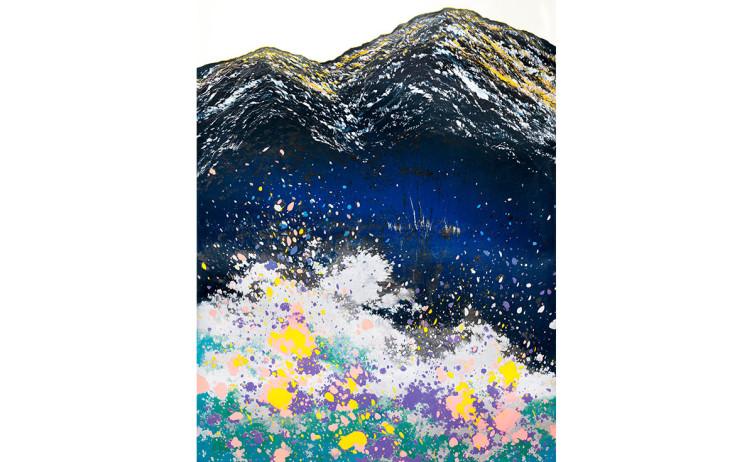 游雅蘭  絢麗冬景  2016  版畫/木刻油印凸版  120x90cm