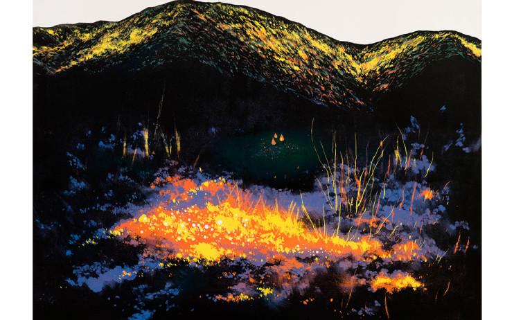 游雅蘭  曠野三把火  2016  版畫/木刻油印凸版  92x120cm